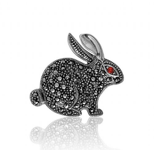 Sterling Silver | Marcasite | Rabbit Brooch